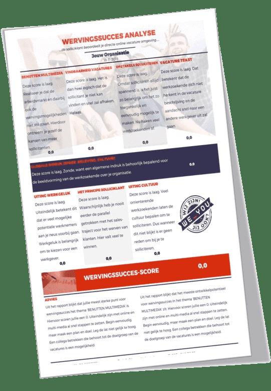 Wervingsucces analyse pagina