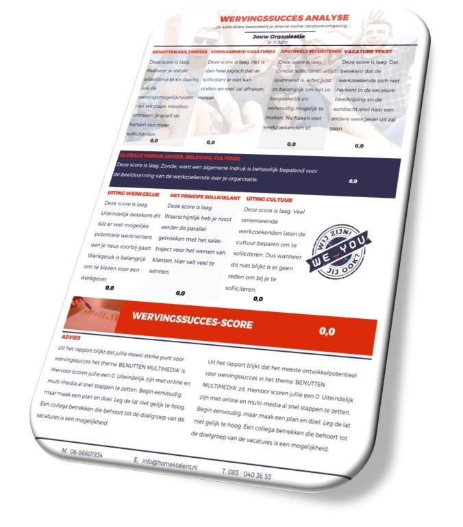 Wervingsucces analyse mobiel